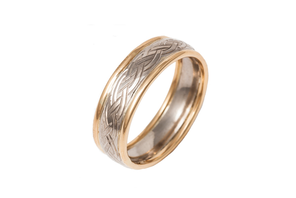 22ct Celtic Style Wedding Ring
