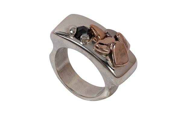 Ice Flow Wedding Ring