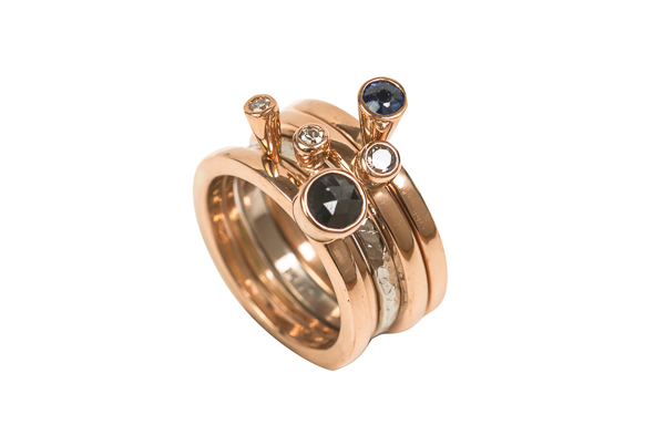 Mixed Gold Stacking Rings